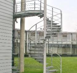 Stahlspindeltreppe